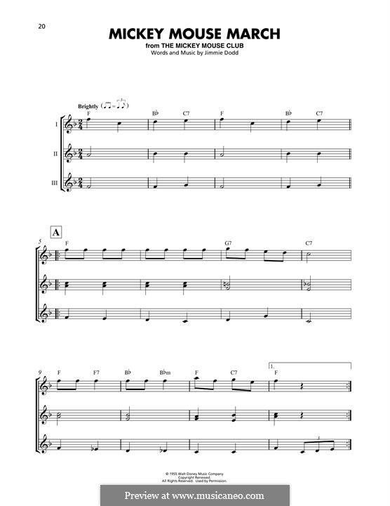 Mickey Mouse March: For ukulele by Jimmie Dodd