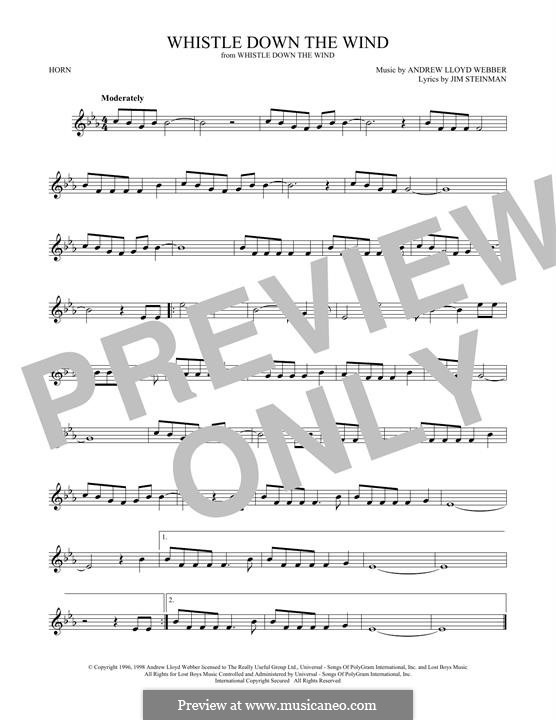 Whistle Down the Wind (from Whistle Down the Wind): For horn by Andrew Lloyd Webber