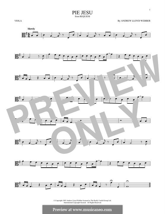 Pie Jesu (from Requiem): For viola by Andrew Lloyd Webber