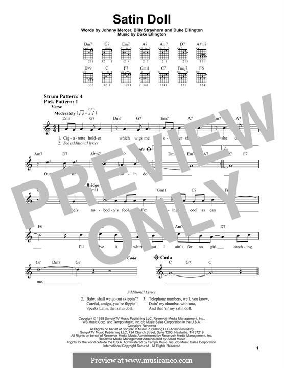 Satin Doll: For guitar by Billy Strayhorn, Duke Ellington