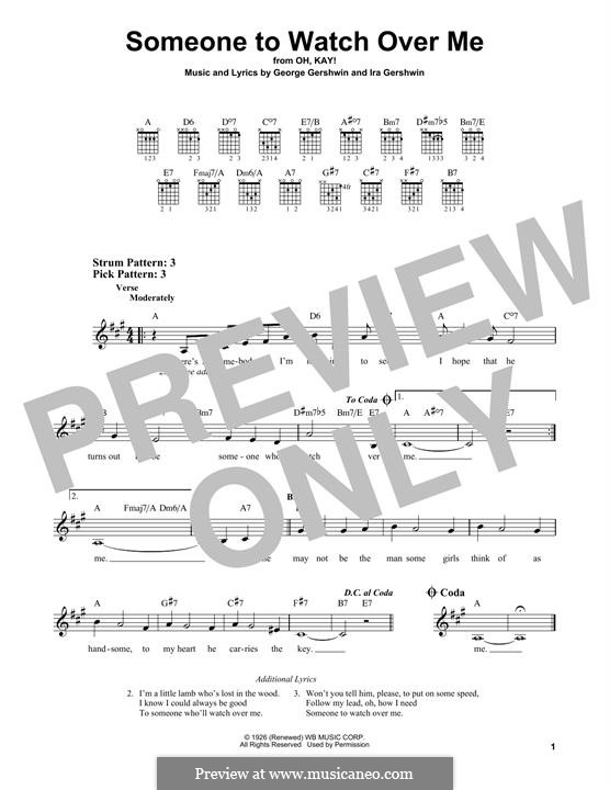 Someone To Watch Over Me (from Oh, Kay!): For guitar by George Gershwin