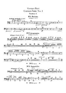 First Suite: Trombones parts by Georges Bizet