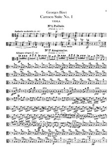 First Suite: Viola part by Georges Bizet