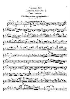 Second Suite: Flute piccolo part by Georges Bizet