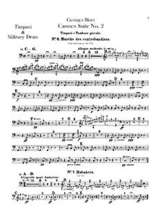 Second Suite: Percussion parts by Georges Bizet
