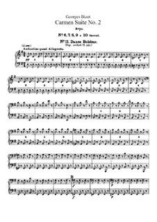 Second Suite: Harp part by Georges Bizet