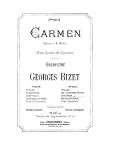 Second Suite: Full score by Georges Bizet