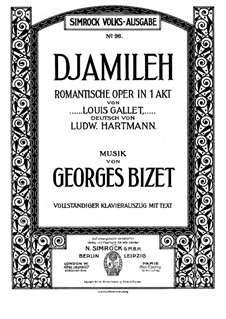 Djamileh: Piano-vocal score by Georges Bizet