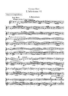 Suite I: Oboes and cor anglais parts by Georges Bizet