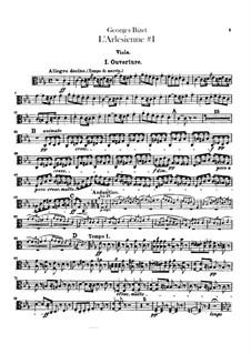 Suite I: Viola part by Georges Bizet