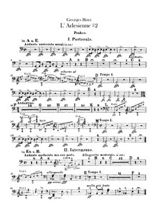 Suite II: Percussion parts by Georges Bizet