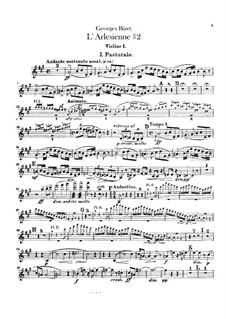 Suite II: Violins parts by Georges Bizet