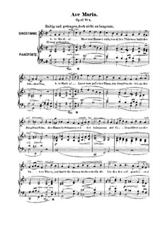 Six Songs, Op.17: No.1 Ave Maria by Robert Franz