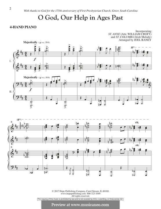 O God, Our Help in Ages Past: Piano Accompaniment by William Croft