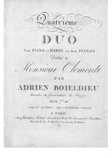 Duet No.4 for Harp and Piano: Piano part by Adrien Boieldieu