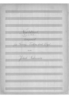 Lys i Natten for Voice, Violin and Organ: German text by Jacob Fabricius