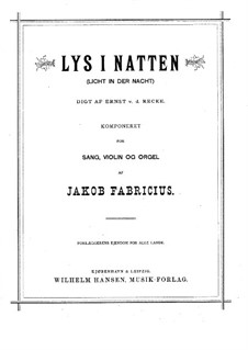 Lys i Natten for Voice, Violin and Organ: German and danish texts by Jacob Fabricius
