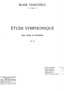 Symphonic Etude, Op.45: For violin and piano by Blair Fairchild