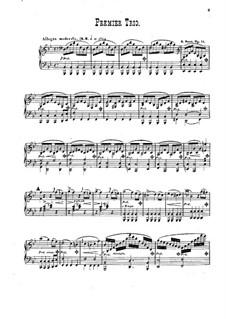 Piano Trio No.1 in B Flat Major, Op.11: Parts by Alexander Fesca