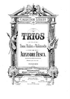 Piano Trio No.3 in G Major, Op.23: Parts by Alexander Fesca
