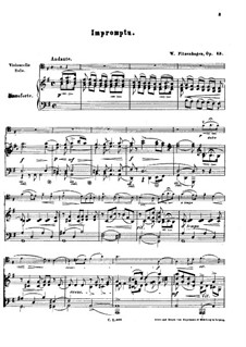 Impromptu for Cello and Piano, Op.13: Impromptu for Cello and Piano by Wilhelm Fitzenhagen