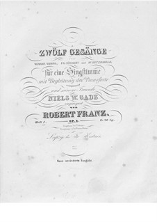 Twelve Songs, Op.4: Book I by Robert Franz