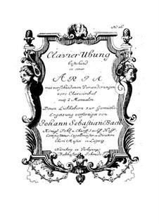 Goldberg Variations, BWV 988: For harpsichord by Johann Sebastian Bach