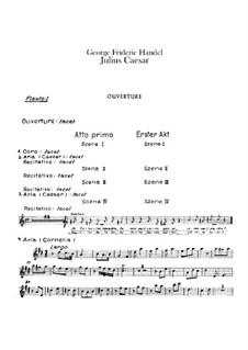 Julius Caesar in Egypt, HWV 17: Flutes parts by Georg Friedrich Händel