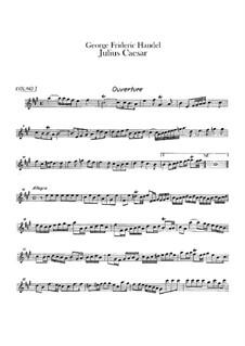 Julius Caesar in Egypt, HWV 17: Violin I part by Georg Friedrich Händel