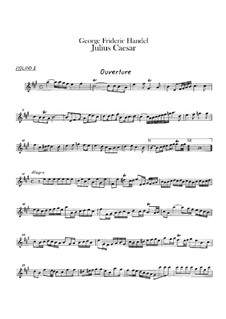 Julius Caesar in Egypt, HWV 17: Violin II part by Georg Friedrich Händel