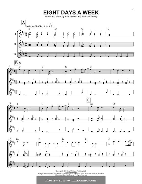 Eight Days a Week (The Beatles): For ukulele by John Lennon, Paul McCartney