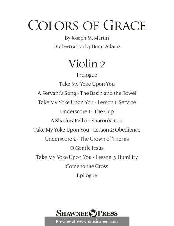 Colors of Grace - Lessons for Lent (New Edition): Violin 2 part by Joseph M. Martin