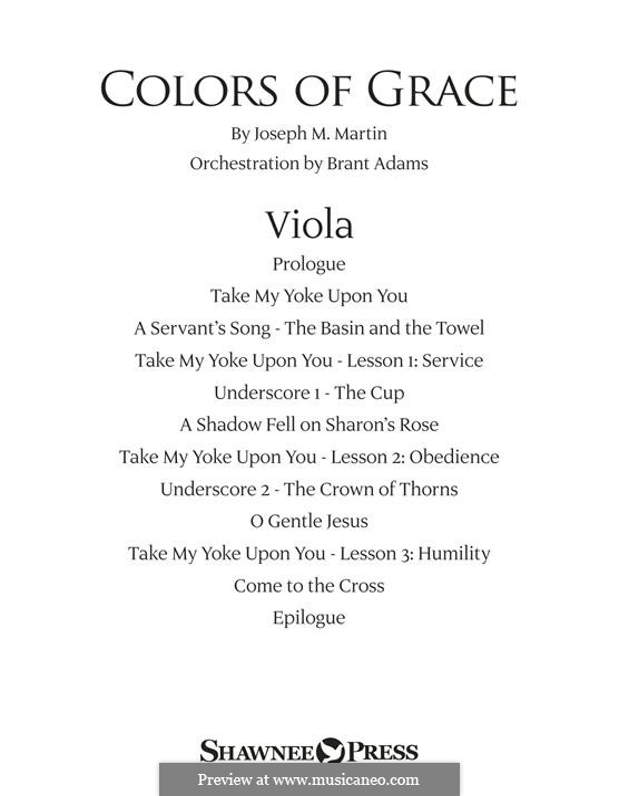 Colors of Grace - Lessons for Lent (New Edition): Viola part by Joseph M. Martin