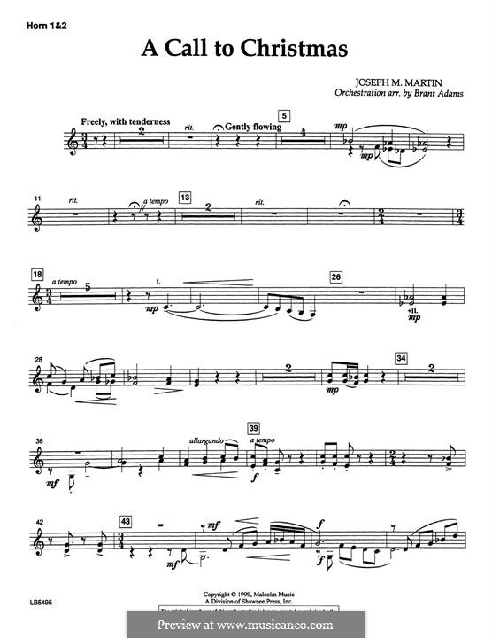 Canticle of Joy: F Horn 1 & 2 part by Joseph M. Martin