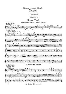Complete Oratorio: Trumpets and clarino parts by Georg Friedrich Händel