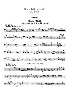 Complete Oratorio: Timpani part by Georg Friedrich Händel