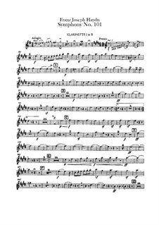 Symphony No.101 in D Major 'The Clock', Hob.I/101: Clarinets parts by Joseph Haydn