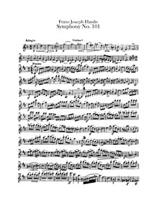 Symphony No.101 in D Major 'The Clock', Hob.I/101: Violin I part by Joseph Haydn