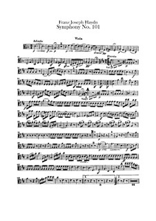Symphony No.101 in D Major 'The Clock', Hob.I/101: Viola part by Joseph Haydn