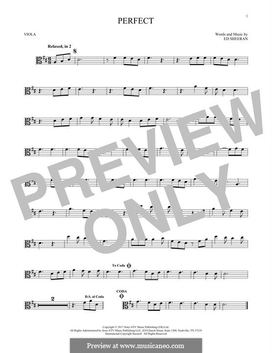 Perfect: For viola by Ed Sheeran