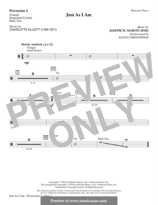 Just As I Am: Percussion 2 part by Joseph M. Martin