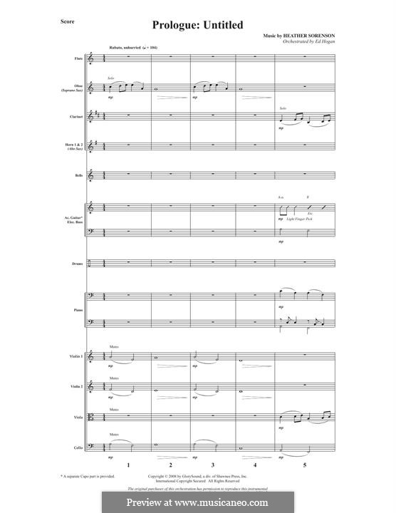 What Wondrous Hope (A Service of Promise, Grace and Life): Full Score by Heather Sorenson, Joseph M. Martin
