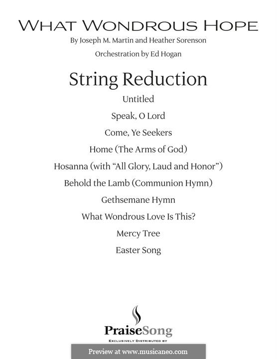 What Wondrous Hope (A Service of Promise, Grace and Life): Keyboard String Reduction part by Heather Sorenson, Joseph M. Martin