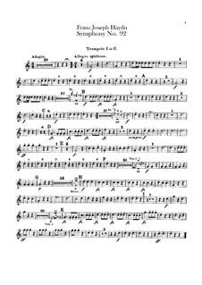 Symphony No.92 in G Major 'Oxford', Hob.I/92: Trumpets I-II parts by Joseph Haydn