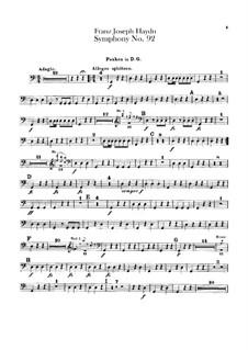 Symphony No.92 in G Major 'Oxford', Hob.I/92: Timpani part by Joseph Haydn