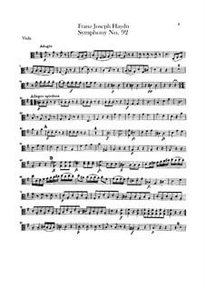 Symphony No.92 in G Major 'Oxford', Hob.I/92: Viola part by Joseph Haydn