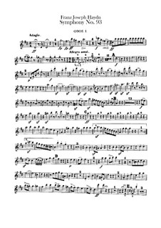 Symphony No.93 in D Major, Hob.I/93: Oboes I-II parts by Joseph Haydn