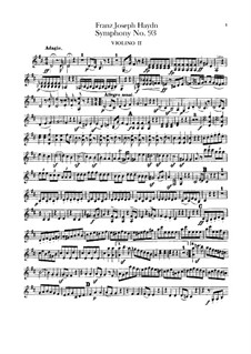 Symphony No.93 in D Major, Hob.I/93: Violin II part by Joseph Haydn