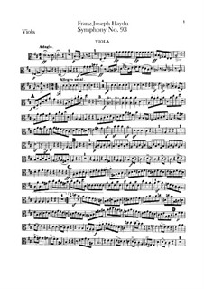 Symphony No.93 in D Major, Hob.I/93: Viola part by Joseph Haydn