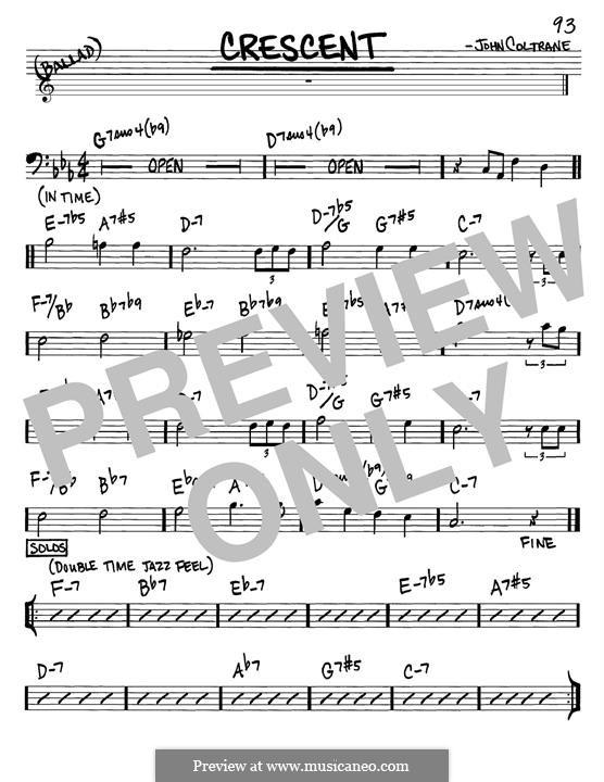 Crescent: Melody line by John Coltrane